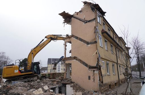 Abriss an Stammheimer Straße hat begonnen