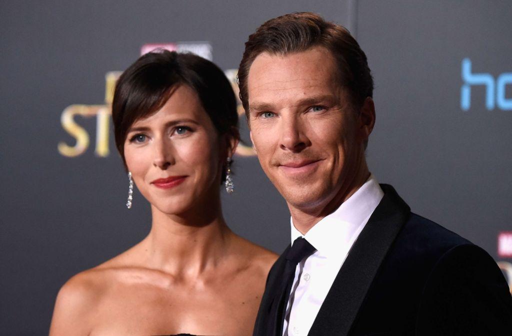 Benedict Cumberbatch und seine Frau Sophie Hunter erwarten Nachwuchs. Foto: AFP