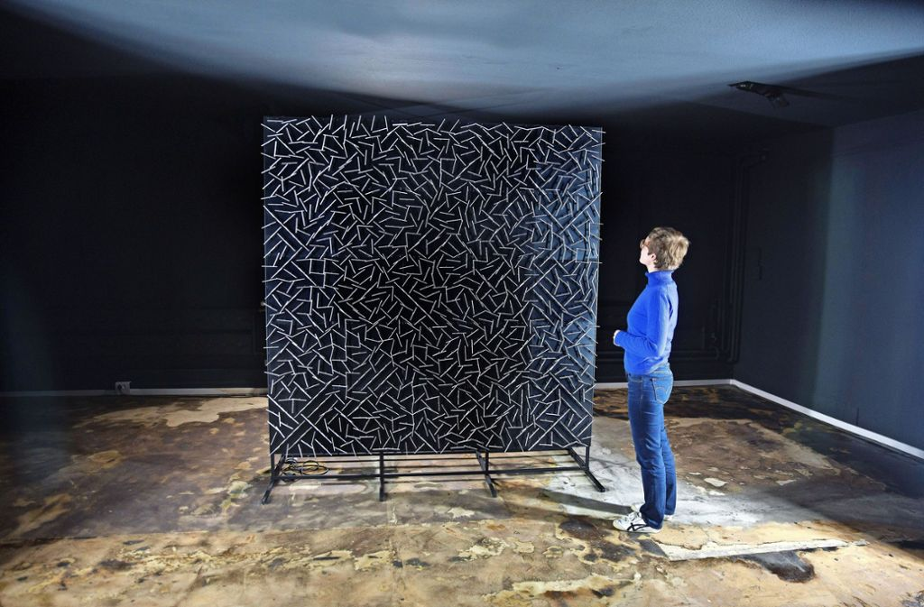 Ralf Baeckers Installation ruft  eine Vielzahl von Assoziationen hervor. Foto: Horst Rudel