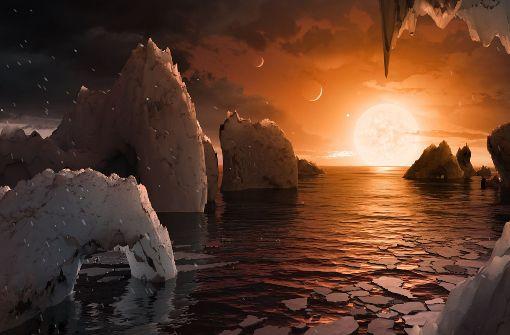 Sieben erdähnliche Planeten beim Zwergstern Trappist-1 entdeckt