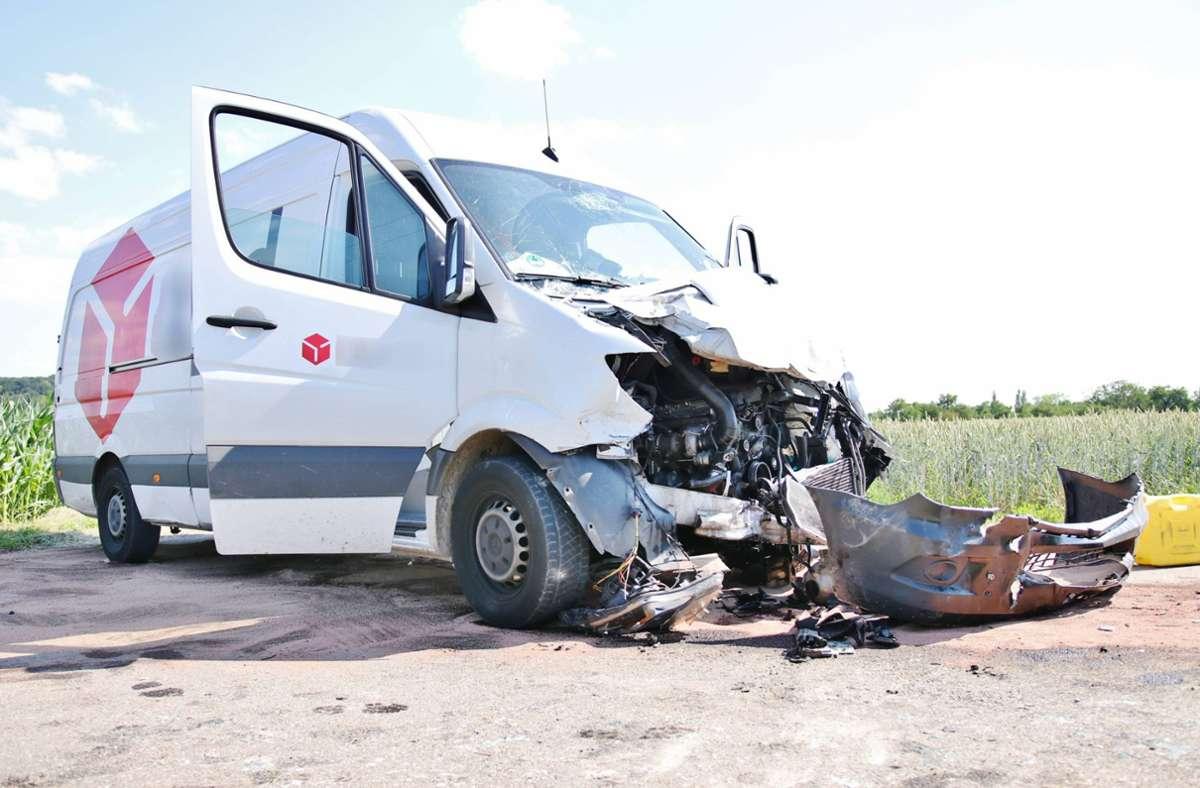 In Remseck am Neckar ereignete sich ein Unfall. Foto: 7aktuell.de/Kevin Lermer