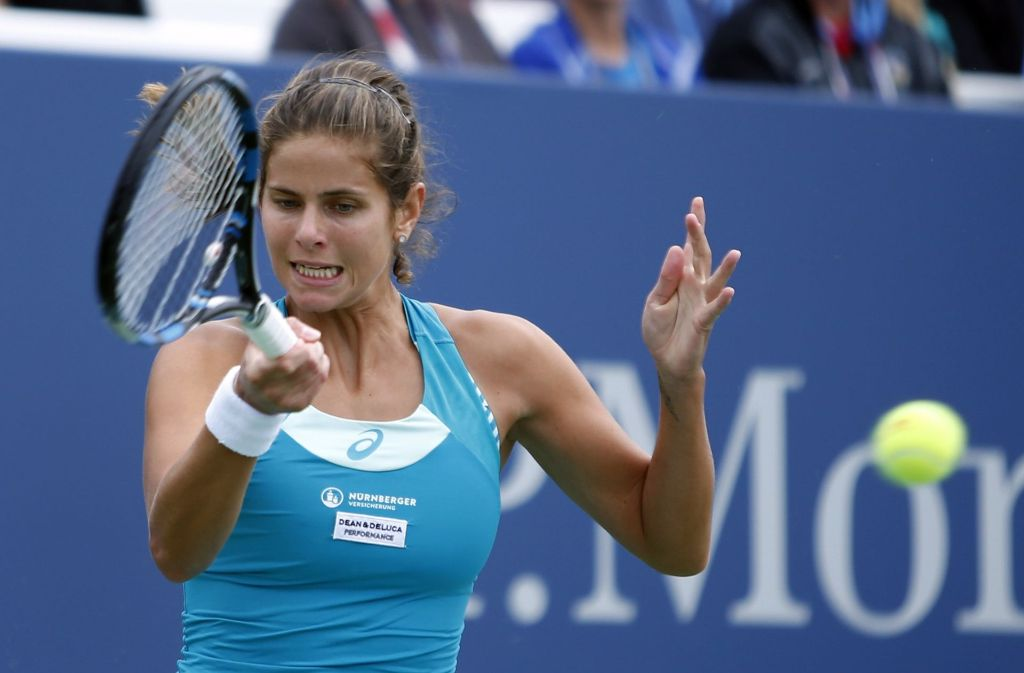 Julia Görges verliert im Achtelfinale der US Open gegen Sloane Stephens. Foto: FR103966