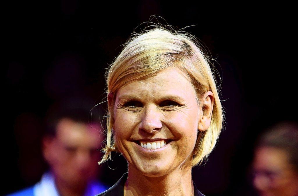 Anke Huber ist von den Leistungen der deutschen Tennisfrauen angetan. Foto: Baumann
