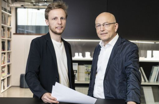 Zwei Architekten zeichnen die Zukunft Stuttgarts auf