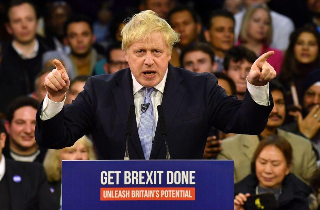 Boris Johnson kann nach  der Wahl aufatmen. Foto: AFP/BEN STANSALL