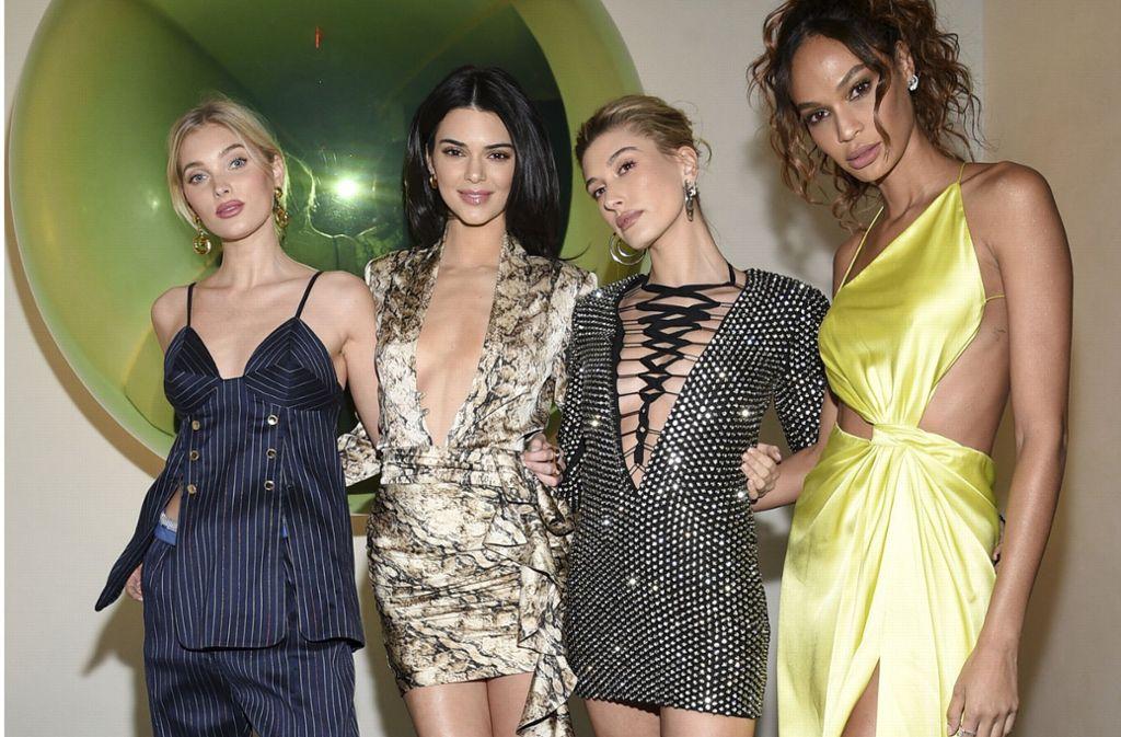 Sie gehören zu den gefragtesten Models in Amerika und feierten am Dienstagabend am Times Square. Foto: Invision
