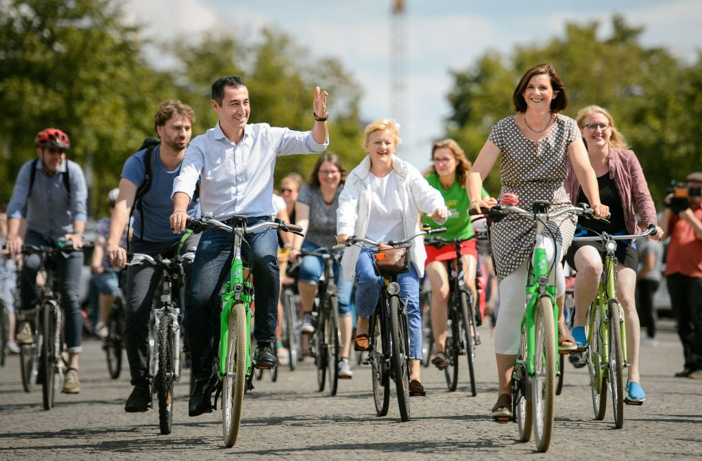 Cem Özdemir vermisst sein grünes E-Bike. (Archivbild) Foto: dpa