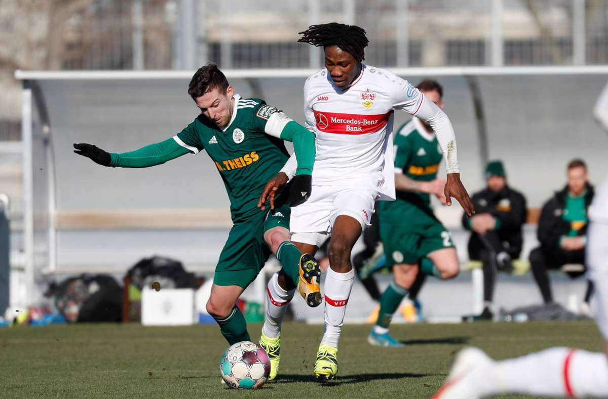 Mohamed Sankoh vom VfB Stuttgart gilt als eines der größten Talente, die der VfB aktuell im Nachwuchsbereich hat. Foto: Pressefoto Baumann