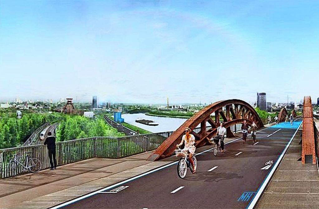 Der Radschnellweg Ruhr soll bis 2020 fertig gestellt werden. Foto: Regionalverband Ruhr, Lg/Piechowski