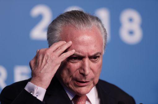 Ex-Präsident in Brasilien festgenommen