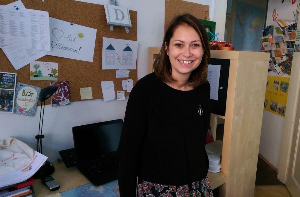 Denisa Krieger leitet das Team der Streetworker an der Möhringer Straße. Sie ist derzeit auf der Suche nach einem neuen Quartier für die Mobile Jugendarbeit im Stuttgarter Süden. Foto: Jacqueline Vieth