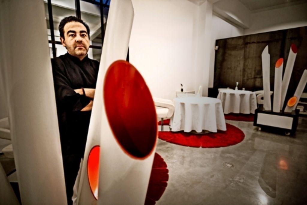 Juan Amador in seinem inzwischen geschlossenen Restaurant in Mannheim Foto: Heinz Heiss