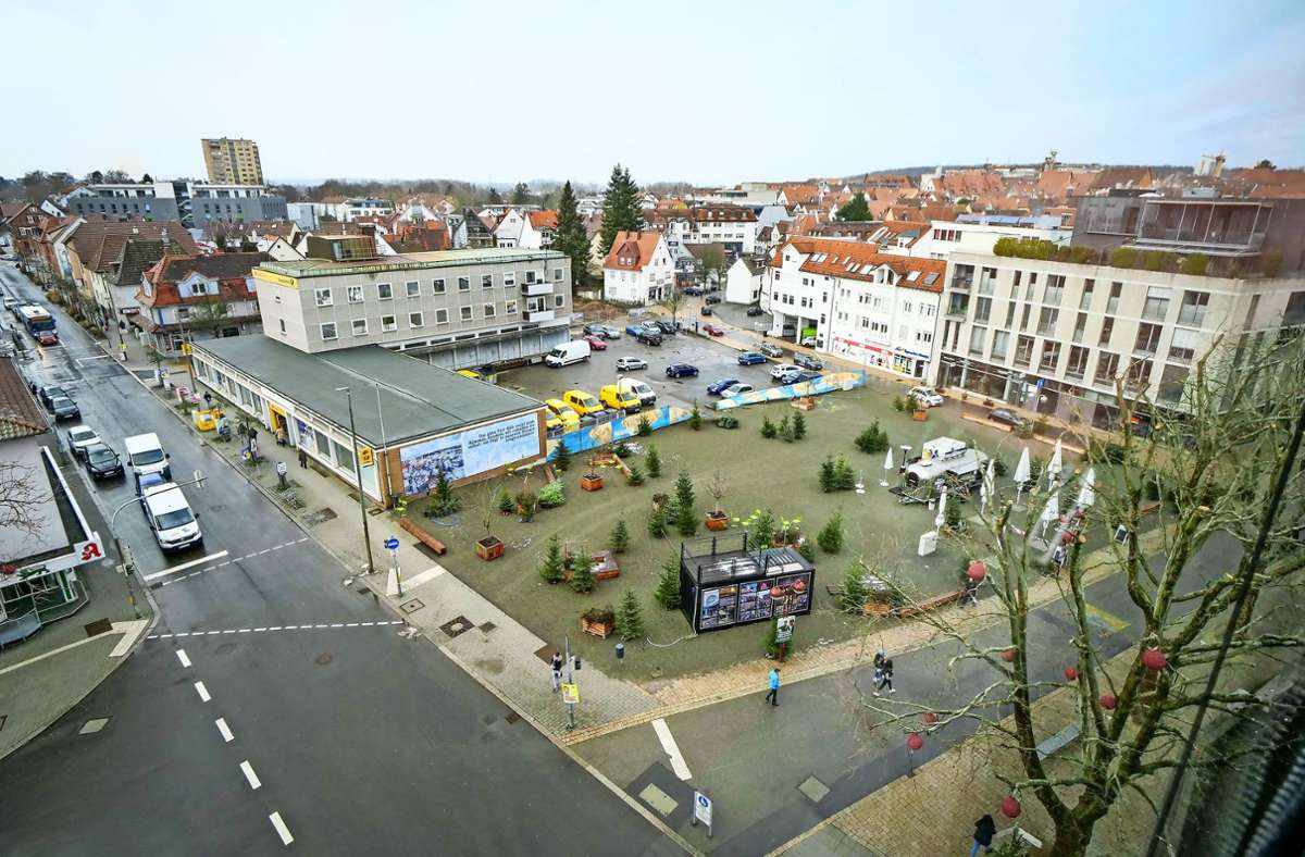 """Mitten in der Sindelfinger Innenstadt befindet sich auch der """"Grüne Platz"""" Foto: Simon Granville"""