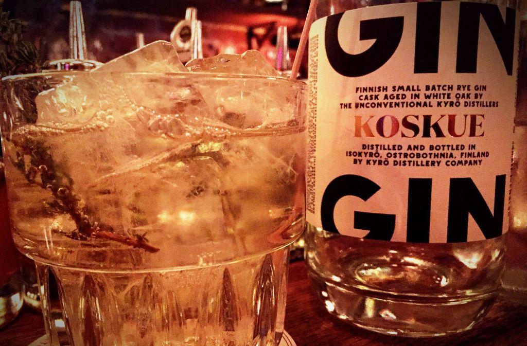 Der Koskue Gin kommt aus Finnland. Foto: Lukas Jenkner