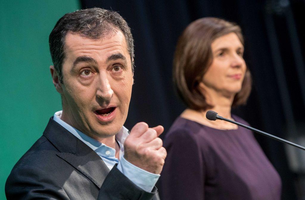 Cem Özdemir zieht mit Katrin Döring-Eckardt für die Grünen in den Wahlkampf. Foto: AFP