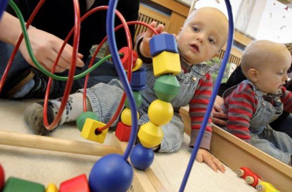 Stress im Krippenalter sollte vermieden werden, da sich dieser auf die Entwicklung der Kinder auswirkt. Foto: dpa