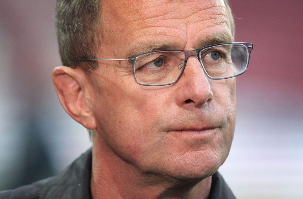 Rangnick sieht keinen Sinn in direkten Gesprächen mit den Bayern. (Archivbild) Foto: AFP/DANIEL ROLAND