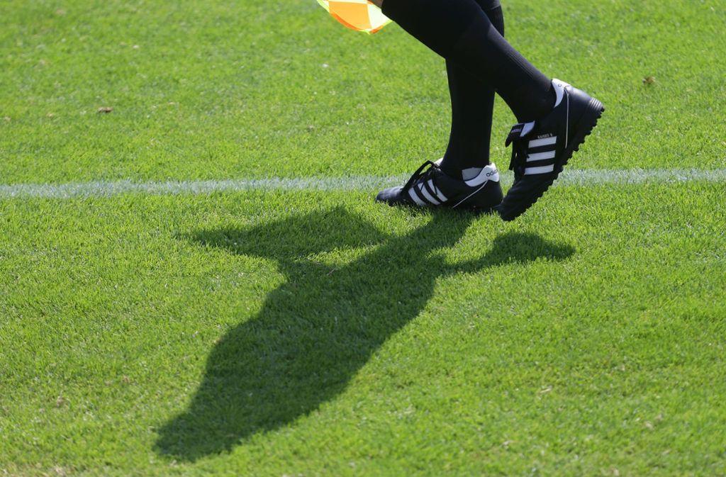 Der Schiedsrichter musste das Spiel schließlich abbrechen. Foto: Pressefoto Baumann