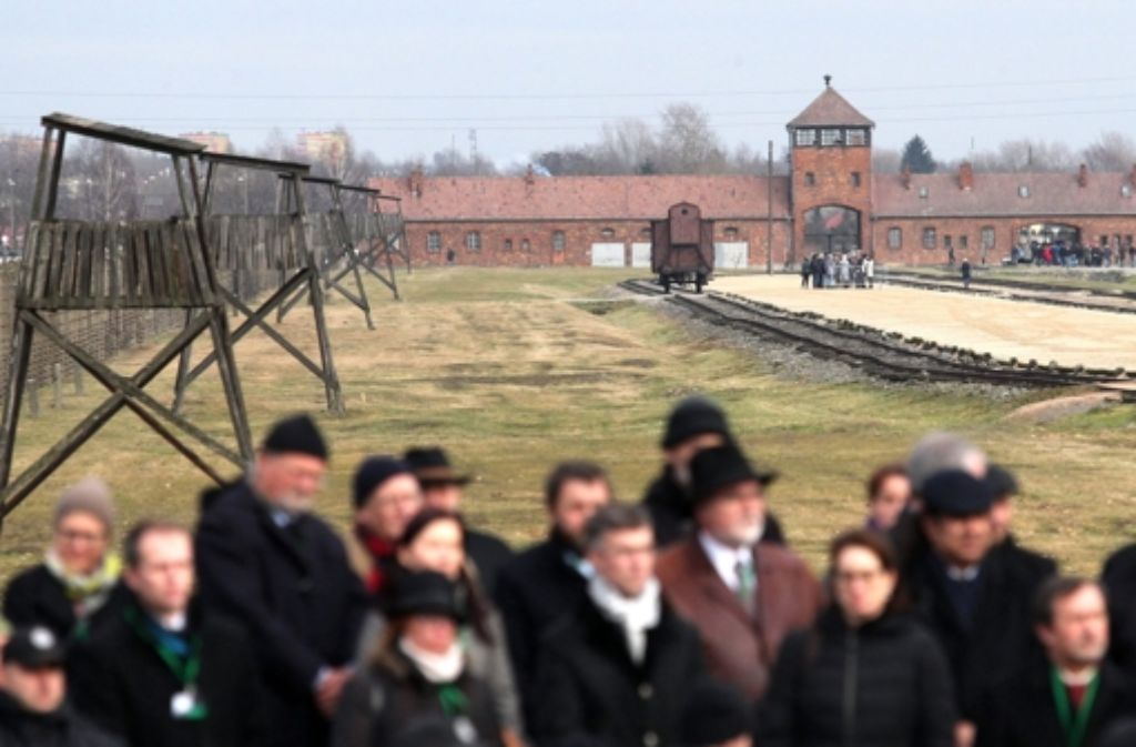 In Auschwitz wurde heute der Opfer des Nationalsozialismus gedacht. Foto: DPA