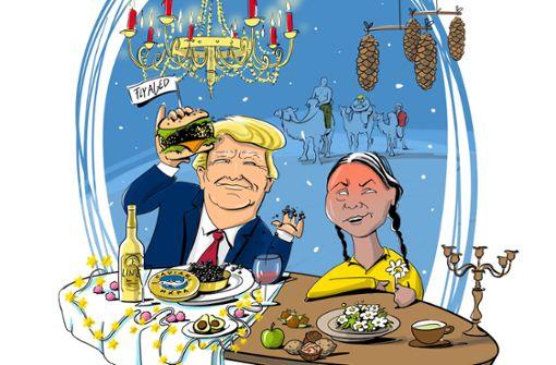 Mit Donald und Greta unterm Baum
