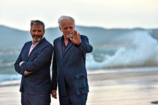 """Roland Baisch (rechts) wird von seinem alten """"Shy Guys""""-Kollegen Clemens Winterhalter begleitet."""