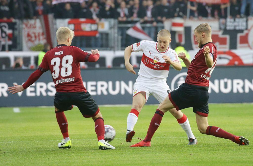 Santiago Ascacibar (Mitte) empfängt mit dem VfB am Samstag den 1. FC Nürnberg. Foto: Getty
