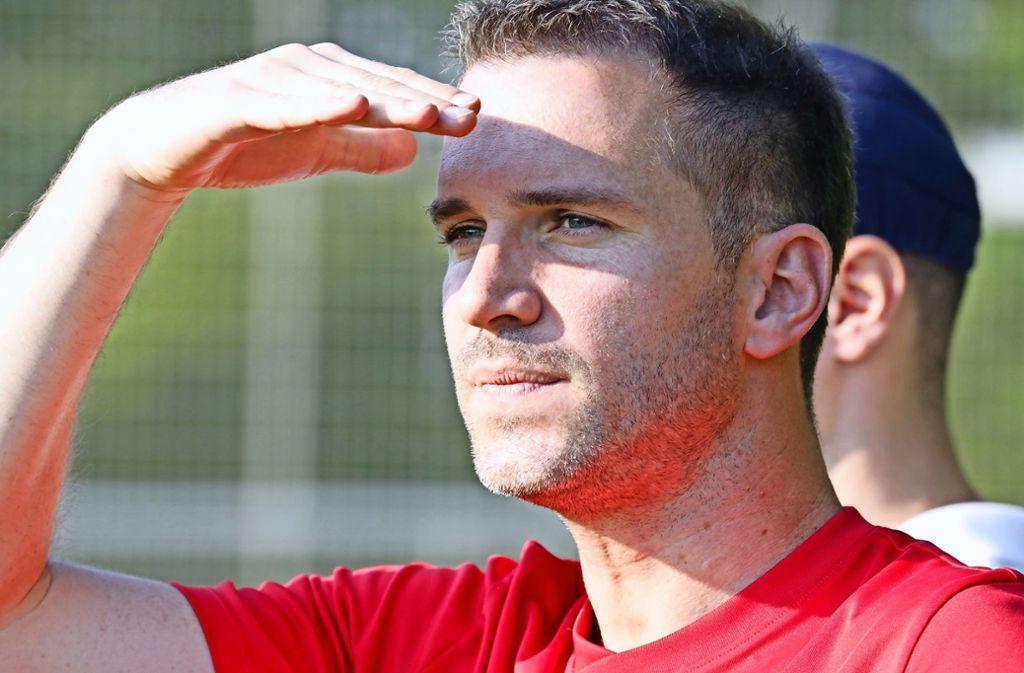 Der Fellbacher Trainer Marco Fischer sieht in Pfedelbach vier Gegentore. Foto: Patricia Sigerist