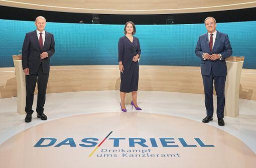 Hier läuft das Triell heute Abend im TV und Stream