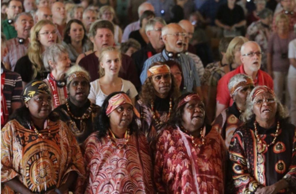 In der Alten Kelter singen auch Aborigines. Foto: Patricia Sigerist