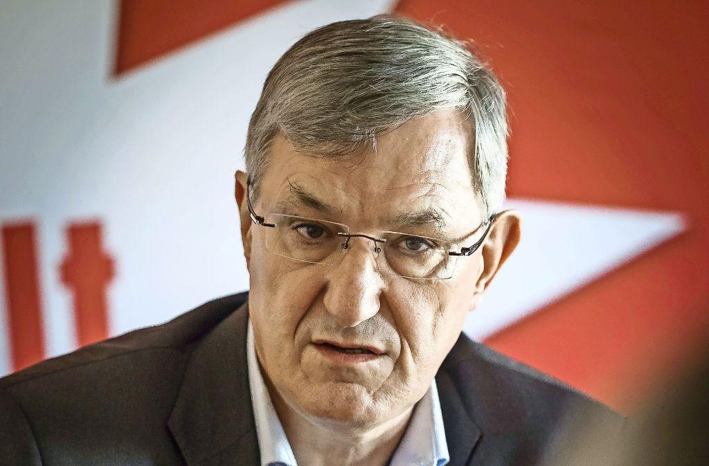 Riexinger fordert eine klare  Positionierung von Martin Schulz. Foto: Lichtgut/Max Kovalenko