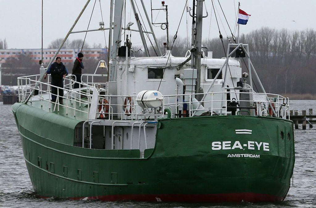Ein Rettungsschiff der deutschen Hilfsorganisation Sea-Eye aus Regensburg. Foto: dpa