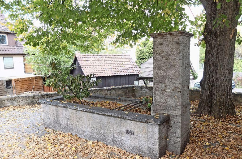 Der Bezirksbeirat Mühlhausen hat die Absicht, den historischen Brunnen zum Ortsjubiläum wieder zu aktivieren. Foto: Frey