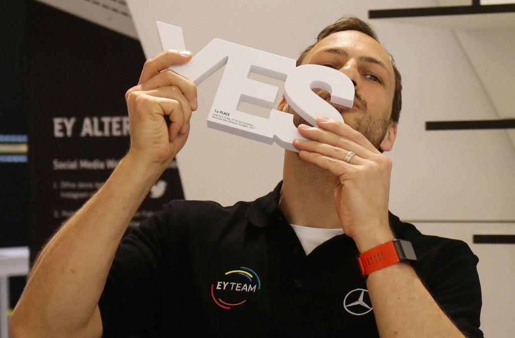 Gary Paffett hat sich beim teaminternen Wettbewerb im Mercedes-Benz-Museum durchgesetzt. Foto: Pressefoto Baumann