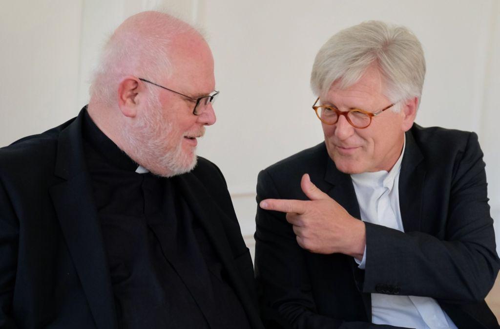 Sind sich einig: Kardinal Marx (links) und der EKD-Ratsvorsitzende Bedford-Strohm. Foto: epd