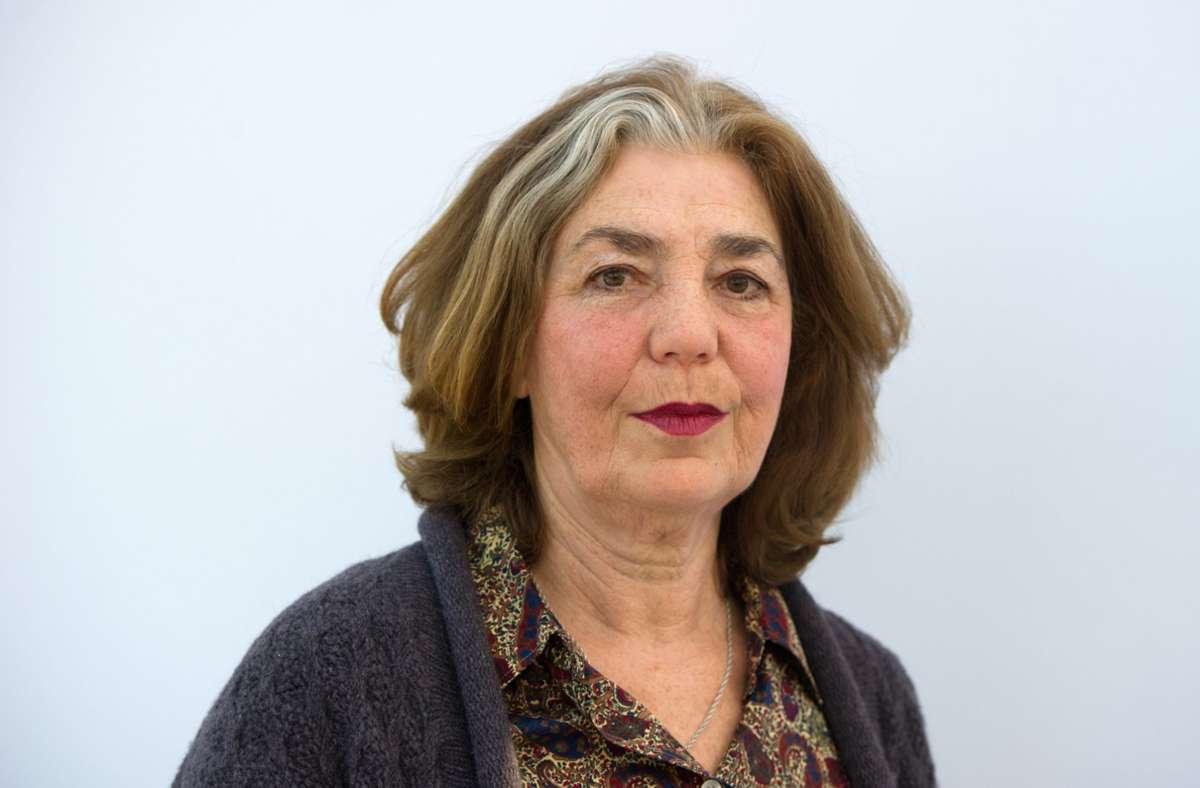 Die Schriftstellerin Irina Liebmann 2013 auf der Leipziger Buchmesse Foto: dpa/Marc Tirl