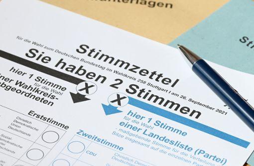 Briefwähler erhalten Wahlanleitung der Landtagswahl