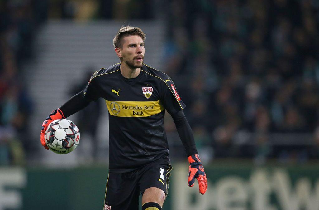 Torhüter Ron-Robert Zieler vom VfB Stuttgart steht in der Bundesliga zum 250. Mal zwischen den Pfosten. Foto: Pressefoto Baumann