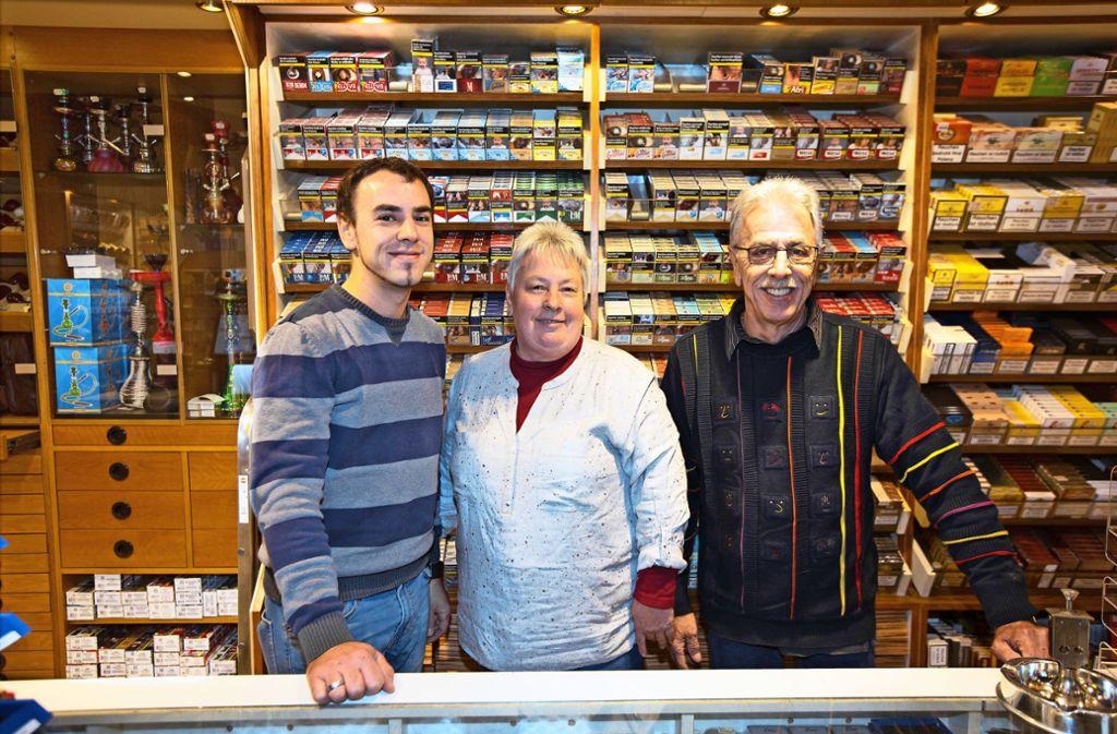 Manuel, Ute und Wolfgang Haller (von links) bilden das Familienteam. Foto: Horst Rudel