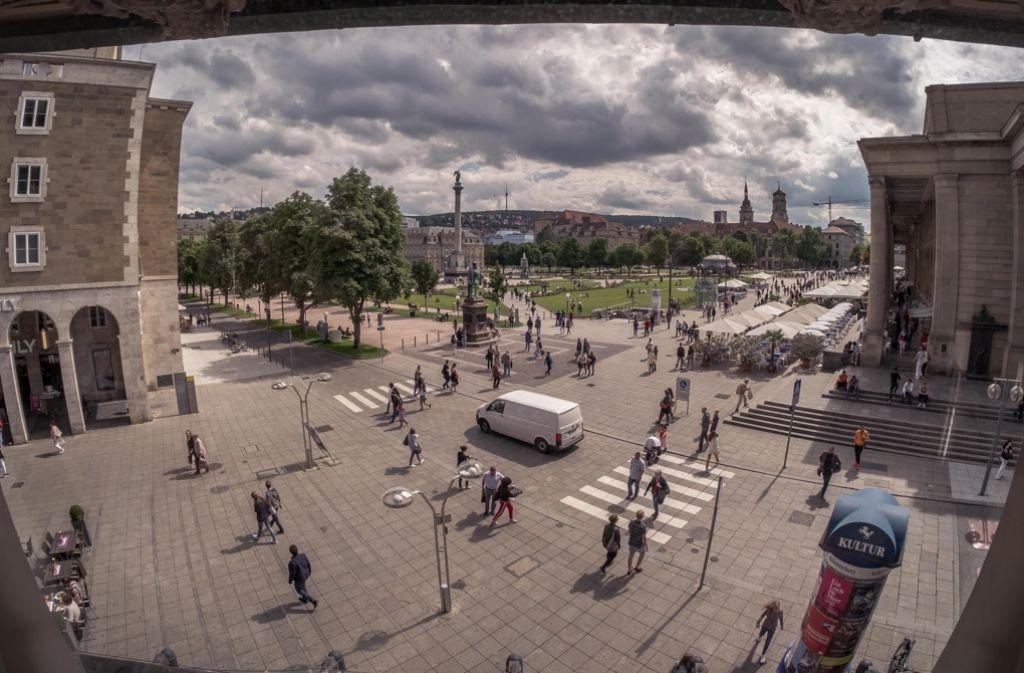 Die Passantenfrequenz auf der Königstraße sinkt kontinuierlich. Foto: Lichtgut/Max Kovalenko