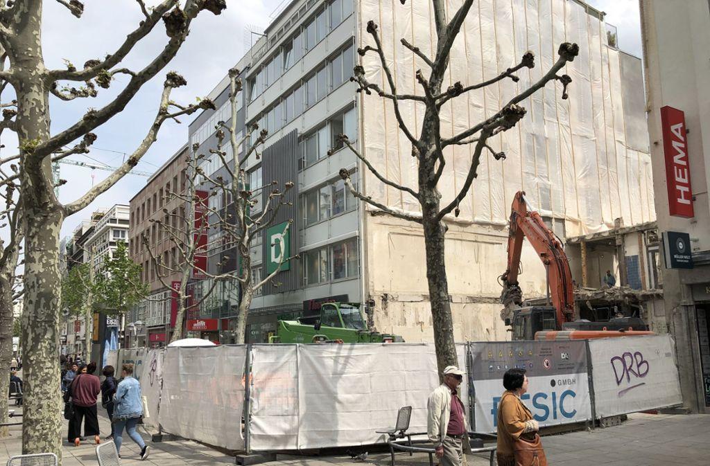 Im November 2020 soll das Wempe-Haus auf der Königstraße bezugsfertig sein Foto: Haar