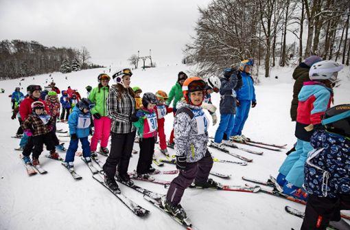 Wintersportler nutzen die Gunst der Stunde