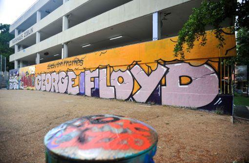 George-Floyd-Graffiti am Züblin-Parkhaus darf bleiben