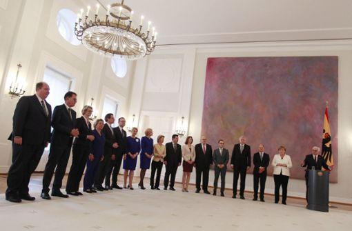 Neues Bundeskabinett kommt erstmals zusammen