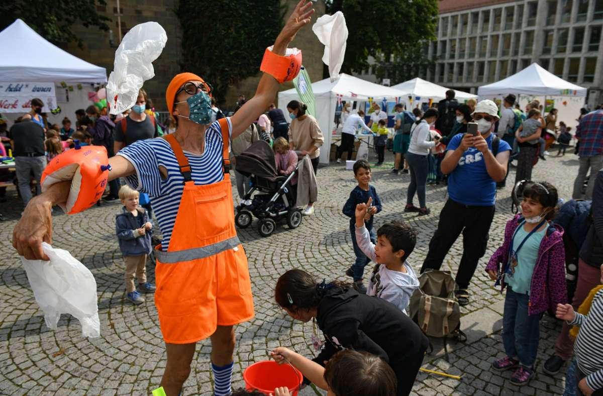 Spaß für Kinder beim Kinderfest in Stuttgart Foto: Lichtgut/Leif Piechowski