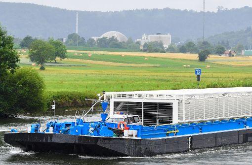 Nächster Atommüll-Transport auf dem Neckar steht bevor