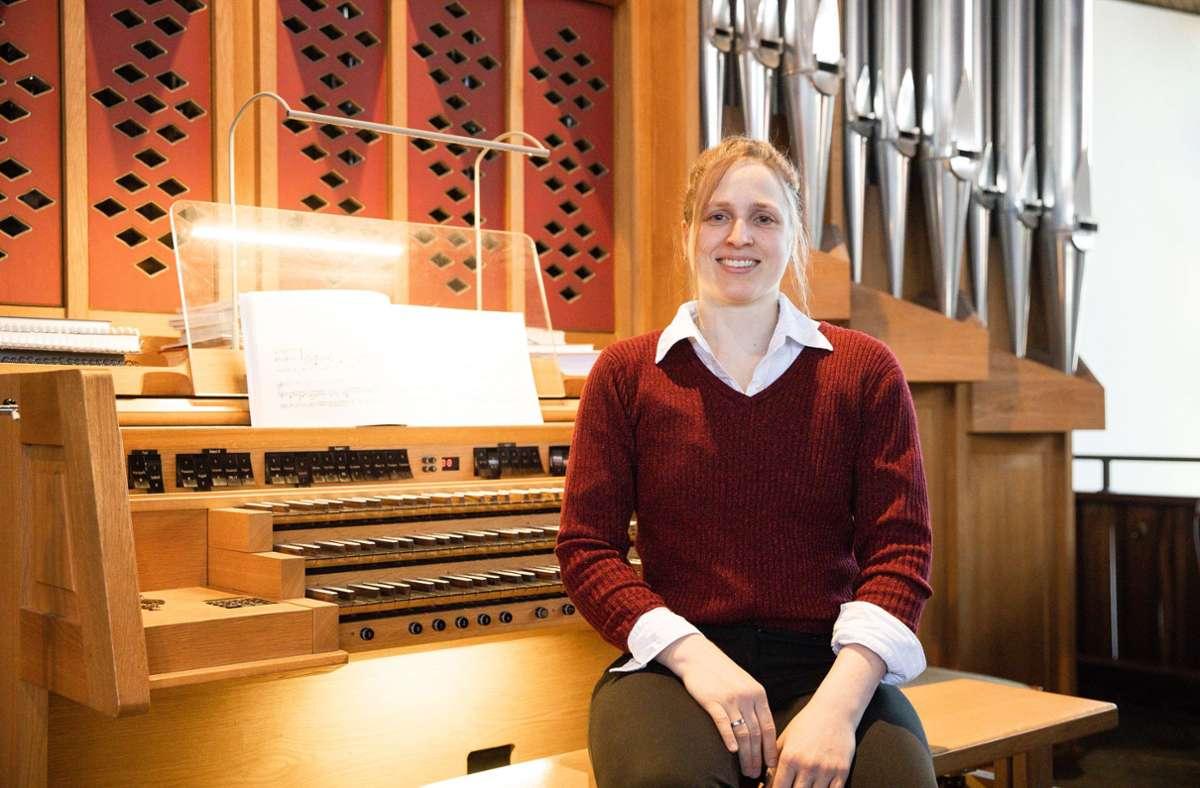 Die Böblinger Kirchenmusikerin Marion Kaßberger wartet immer noch auf ihr Konzertdebüt vor heimischem Publikum Foto: Stefanie Schlecht/Stefanie Schlecht