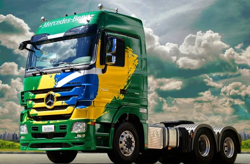 Dunkle Wolken �ber Daimlers Lkw-Produktion in Brasilien. Foto: Daimler