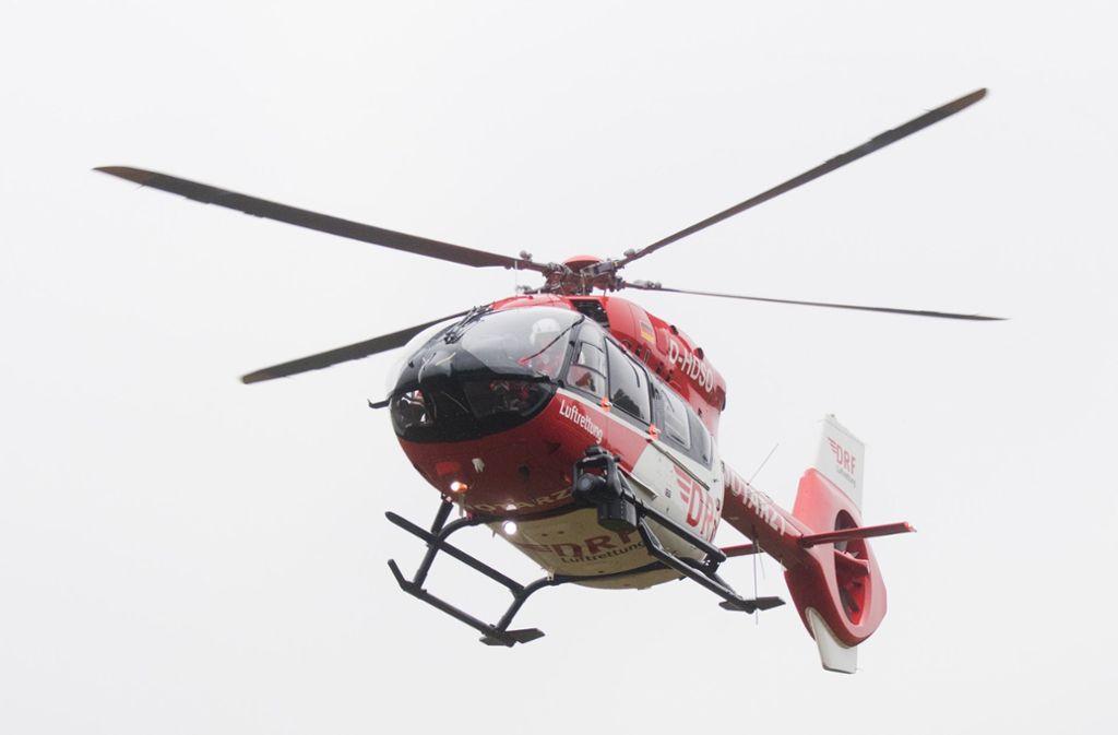 Das Mädchen wurde mit einem Hubschrauber in das nächste Krankenhaus geflogen (Symbolbild). Foto: dpa