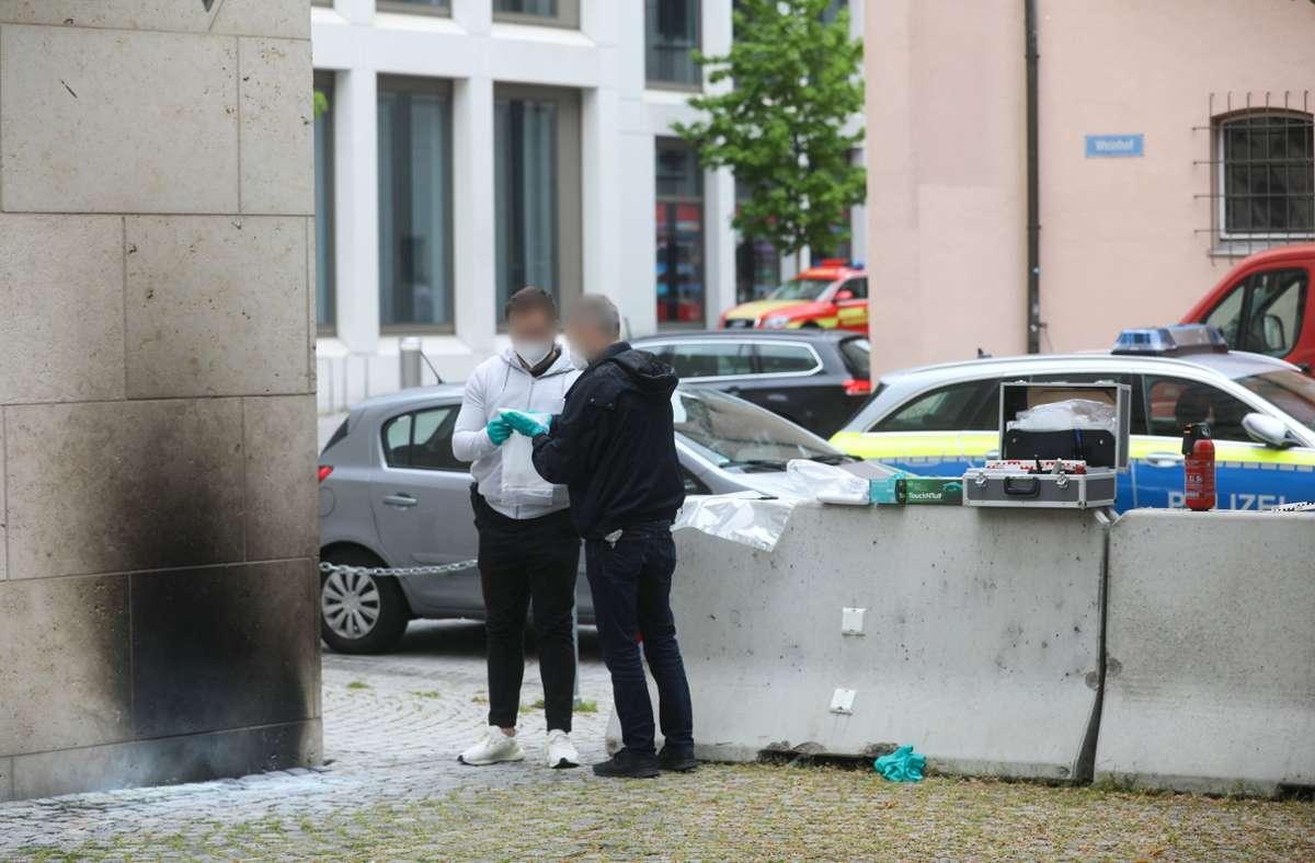 Ein Unbekannter soll die  Fassade der Ulmer Synagoge beschädigt haben. Foto: dpa/Ralf Zwiebler