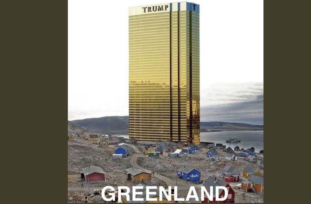 Donald Trump lässt beim Thema Grönland-Kauf nicht locker. Jetzt hat der US-Präsident ein bearbeitetes Foto per Twitter in die digitale Welt gesandt. Foto: Screenshot Twitter/twitter.com/realDonaldTrump